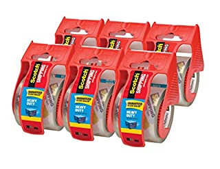 Scotch Heavy Duty Shipping Packaging Tape, 6 Rolls with Dispenser, Clear, 1.88 inches x 800 inches, 1.5 inch Core, Great for Packing, Shipping & Moving (142-6) (B000J07BRQ) | Amazon Products