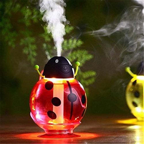 Katoot@ USB Powered Funny Beatles Home Car Aroma LED Humidifier Air Diffuser Purifier Atomizer Cartoon Design Creative (Red) by Katoot