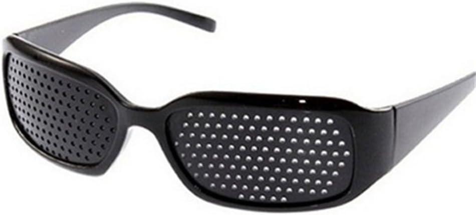 DAUCO Unisex Occhiali Forati a Fori in PC Stenopeici Anti Miopia//Occhiali forati per allenare Gli Occhi