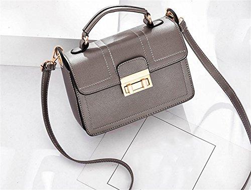 BAO Bolso de la Sra. Diagonal Hombro Tendencia portátil Personalidad Bolsa Bolsas de bloqueo de moda Simple, gray Bronze