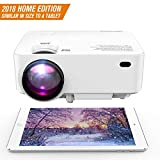 DBPOWER Mini Projector (PREAD Lamp Solution), 50% Brighter Full HD LED Movie Projector with 176'' Display, 2018 Custimized for Home Theater, Compatible with Smartphone,1080p/HDMI/Supported