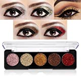 Image of Glitter Powder Makeup Palette,Vodisa Pressed Glitter Eyeshadow Palette Long-Lasting Metallic Shimmer Eye shadow Pallet Eyes Makeup Glitter Highly Pigmented Mineral Pressed Glitter Cosmetic Makeup (2)