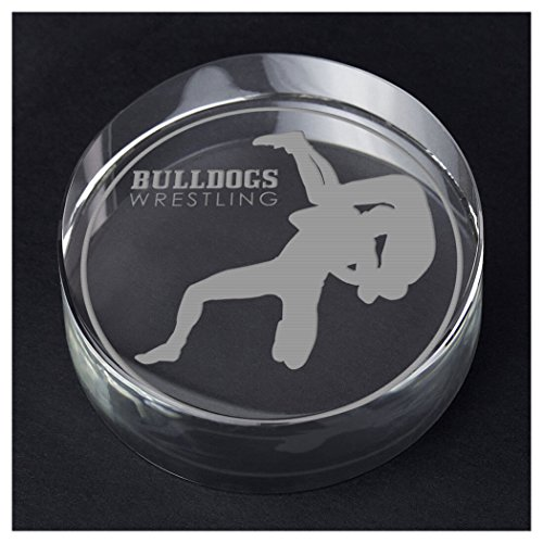 ChalkTalkSPORTS Wrestling Personalized Crystal Award Gift | Wrestler Silhouette Custom Team Name by ChalkTalkSPORTS