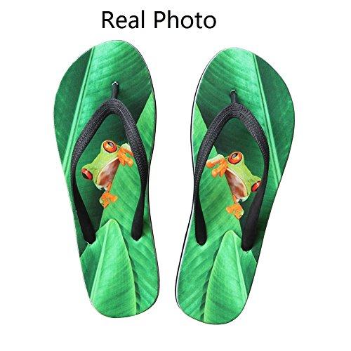 Per Te Disegni Calzature Unisex Uomo Donna Divertente Moda Slip On V Infradito Sandali Scarpe Da Spiaggia Rana Ombra