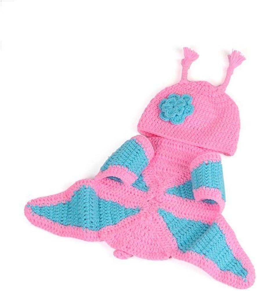 Mariposa RETYLY Conjunto de disfraces trajes de de punto de ganchill de nina nino recien nacido unisex de moda Accesorio de foto de fotografia