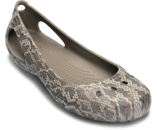 Crocs Women Kadee Snake Print Flat Women Shoes, Size: 6 B(M) US Womens, Color - Graphite Shoes Color