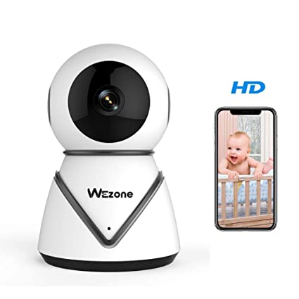 Wezone WiFi IP Camera Home Security Camera Pan Tilt Indoor Video Recording  Baby Monitor with 720P HD Night Vision Motion Detection Two-Way Audio