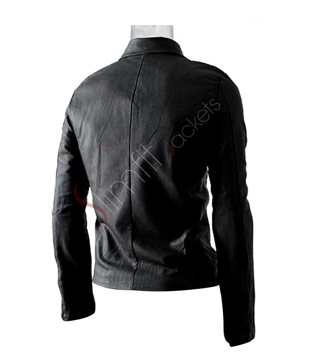 Multi Pocket Biker Slim-fit Black Leather Jacket (Clearance Sale ...