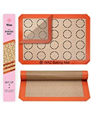 """Silicone Baking Mat Set, 3-Piece Half-Sheet Liners with Professional-Grade Non-Stick Surfaces for Cookies, Macaroons, Pastries and Bread Making (11.625"""" x 16.5"""" Each)"""