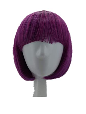 Pink Wig Synthetic Heat Resistant Short Wavy Hair Peruca Pelucas Costume Cartoon Role Cos-Play