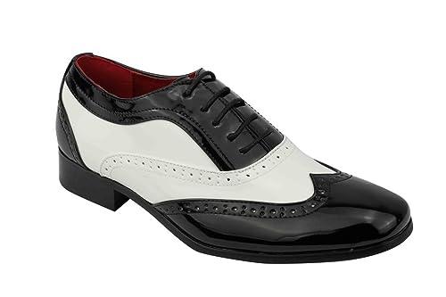 Rossellini - Mocasines para hombre Multicolor negro/blanco: Amazon.es: Zapatos y complementos