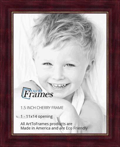 Amazoncom Arttoframes 11x14 11 X 14 Picture Frame Cherry Stain