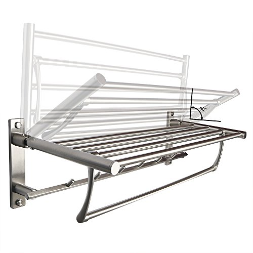 Stainless steel Folding Bathroom Shelf Hotel Towel Rack