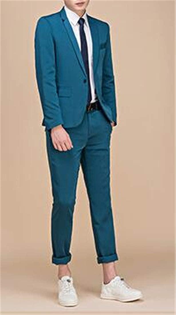 Pandapang Mens Coat Evening Two Pieces Trousers Slim Fit Suit Sets