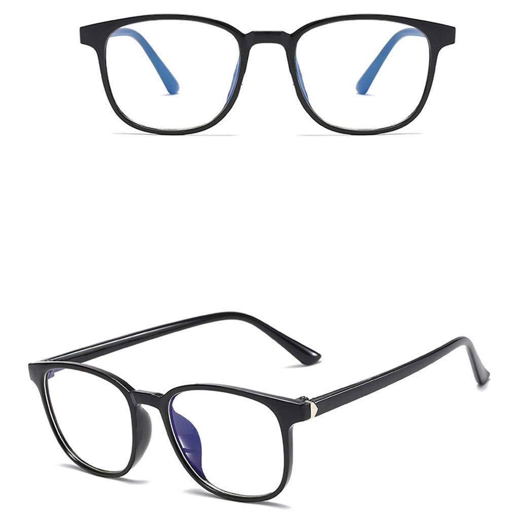 Womens Sunglasses Lollyeca Unisex Glasses Round Computer Readers Eyeglasses Frames for Prescription Lens
