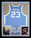 Michael Jordan Framed Jersey Signed UDA COA Upper Deck UNC North Carolina UpperDeck