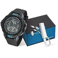 Kit Relógio Speedo Masculino Digital Preto 81157G0EVNP1K2 com Carregador Portátil