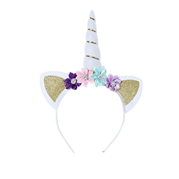 Image Unavailable. Image not available for. Color  dressfan Unicorn  Headband Women ... 9169561d740