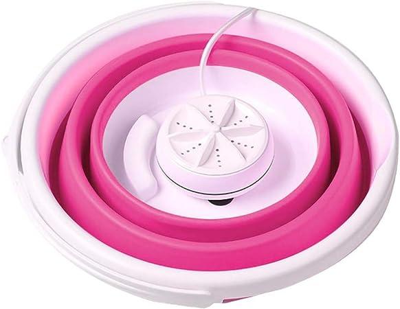 Fahooj Mini Turbo Washing Machine Blue USB Charging Portable Washing Machine with Foldable for Camping Apartment Dorms