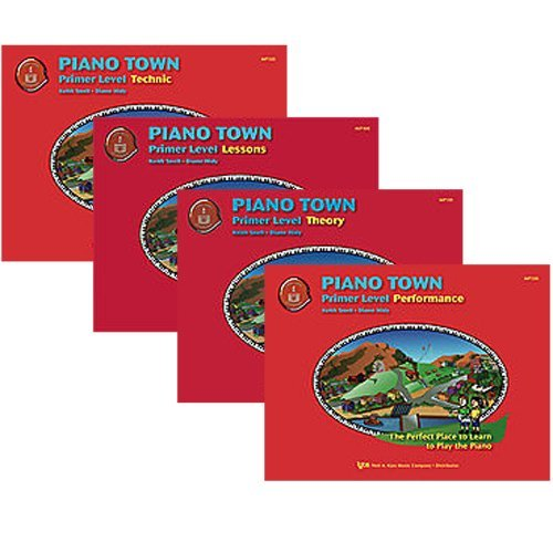 Piano Town Primer Level Piano Learner's Pack - Lesson, Theory, Performance and Technic Primer Level Books ()
