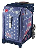 Zuca Go USA! American Flag Sport Insert Bag and Navy Frame with Flashing Wheels