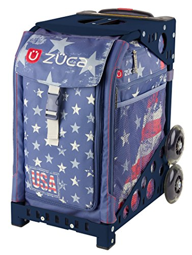 Zuca Go USA! American Flag Sport Insert Bag and Navy Frame with Flashing Wheels by ZUCA