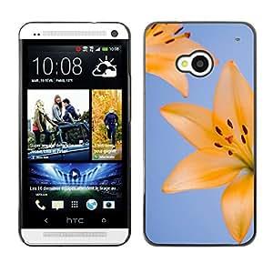 Amistad Entre Florals - Metal de aluminio y de plástico duro Caja del teléfono - Negro - HTC One M7
