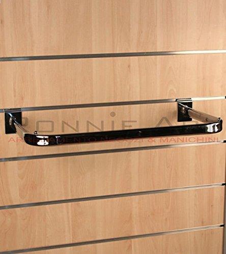 BARRA APPENDERIA 90 cm CROMATA PER PANNELLO DOGATO Cabina armadio guardaroba arredamento negozi