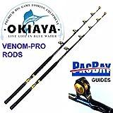 OKIAYA Carbon Fiber Venom PRO Series 50-80LB Tournament Penn Shimano Set of 2 Review