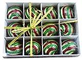 Festive Season Vintage Style Christmas Tree Ornament Balls (Set of 12, 60mm)