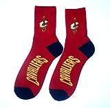 NBA Cleveland Cavaliers Men's Team Quarter Socks, Large