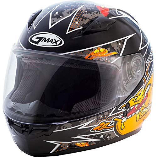 GMAX Unisex-Adult Style G7496252 TC-6 Gm49Y Full Face Street Helmet Alien Black/Orange Youth l Large