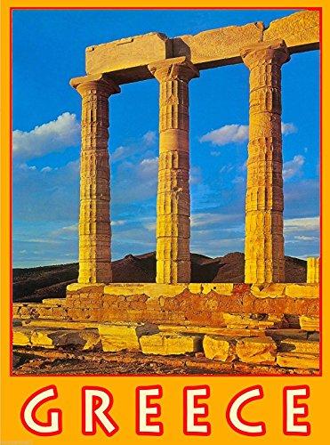 MAGNET Greece Greek Athens Acropolis Europe European Travel Advertisement Magnet