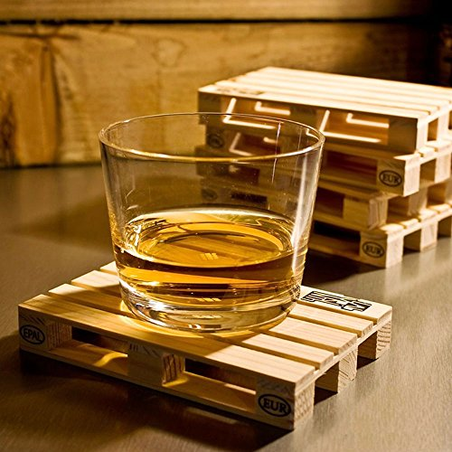 8pcs/lot Miniature Pallet Wood Beverage Coasters Wine Drink Glasses Beer Bottle Whiskey Glass Cup Mat Cold Drinks Tablemat