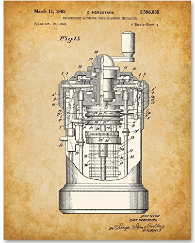 - Curta Calculator Art Print - 11x14 Unframed Patent Print - Great Gift for Mathematicians and Computer Geeks