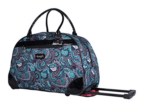 ggage 22 Inch Rolling Carry On Printed Wheeled Duffel (Paisley Black, One_Size) ()