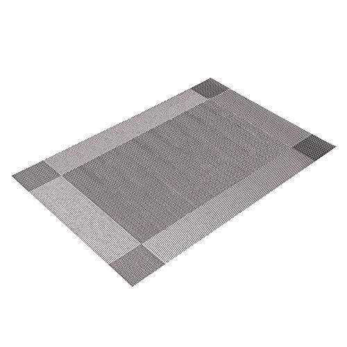 lightclub PVC Dining Table Heat Insulation Mat Tableware Placemat Place Mats Kitchen Restaurant Decor Silver ()