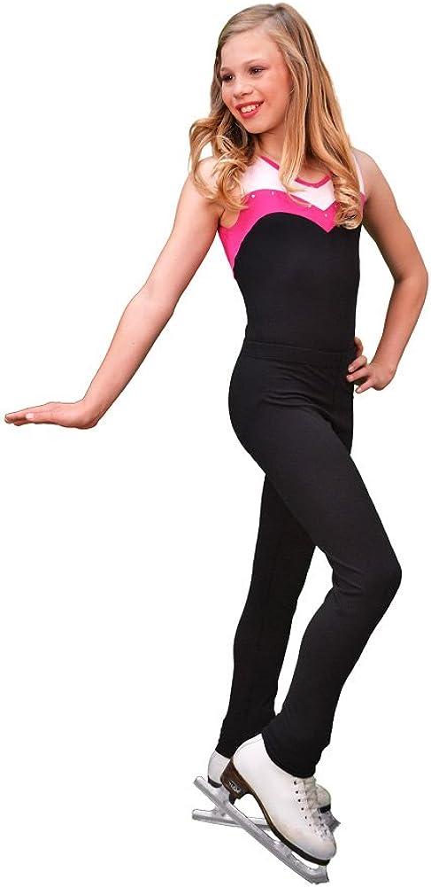 ChloeNoel P11 - Skinny Figure Skating Pants Black Adult Small