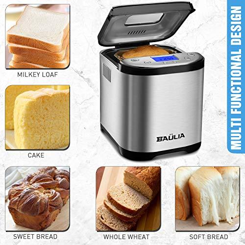 Baulia BM822 Automatic Bread Maker Machine, Gluten/Sugar-Free Functions 15 Programmable Bread Types Settings by Baulia (Image #5)