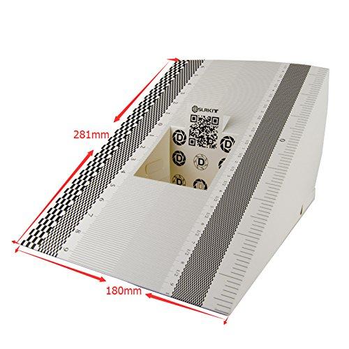 DSLRKIT 28X18cm Lens Focus Calibration Tool Alignment Ruler Folding Card (pack of 2)