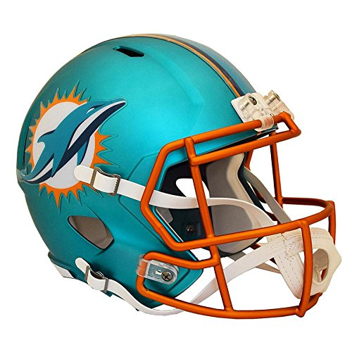 Miami Dolphins BLAZE Officially Licensed Speed Full Size Replica Football Helmet by Riddell