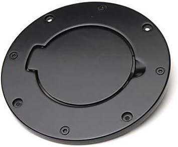 Black Billet Style Fuel Filler Door Cover Gas Tank Cap 4-Door 2-Door for Jeep Wrangler JK /& Unlimited 2007-2018 Sport Rubicon Sahara