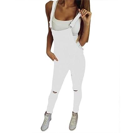 Pantalones Mujer Sexy ❤️ Amlaiworld Monos largos mujer mameluco Mujer Petos Vaqueros Jeans Elásticos Vaqueros Pantalones Jeans overoles Pantalones ...