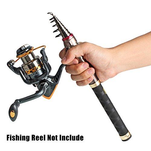 Yongzhi fishing rod mini pocket telescopic carbon fiber for Fishing rods for kids