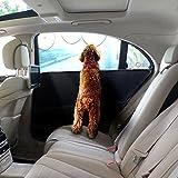 Pet Puerta,, ejiasu coche puerta Guardia Puerta Protector para vehículos coche puerta de coche Guardias para perros coche puerta lateral Cover con 3bolsillos extra para puerta de coche impermeable para animal, 2 Pack, Black