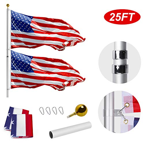 Where to find flag pole telescoping 30 foot?