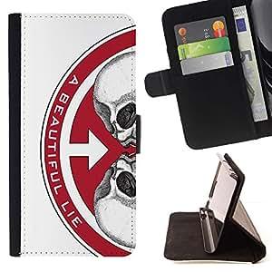 Momo Phone Case / Flip Funda de Cuero Case Cover - UNA VIDA HERMOSA - HTC One M7