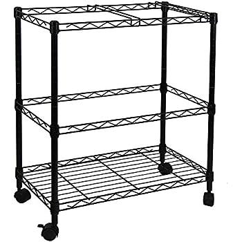 portable tier metal rolling file cart black with locking lid costco walmart