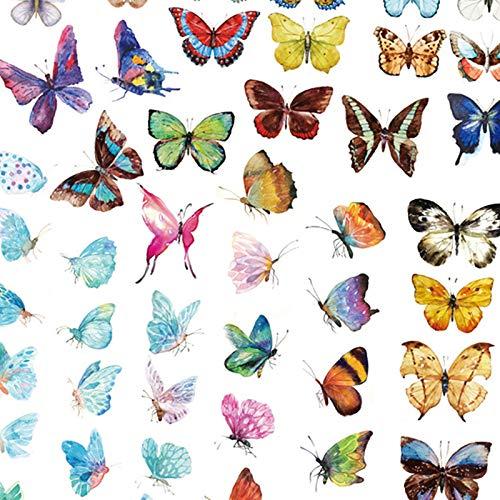 Falary Album Sticker Decorative DIY Design Decals Puffy Stickers Cartoon Butterfly Graffiti Stickers Vinyls Stickers Bullet Journals Decals Scrapbooking 14.8cm*21cm