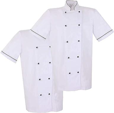 MISEMIYA - Pack*2 pcs - Americana Chef Cocinero Mangas Cortas ...